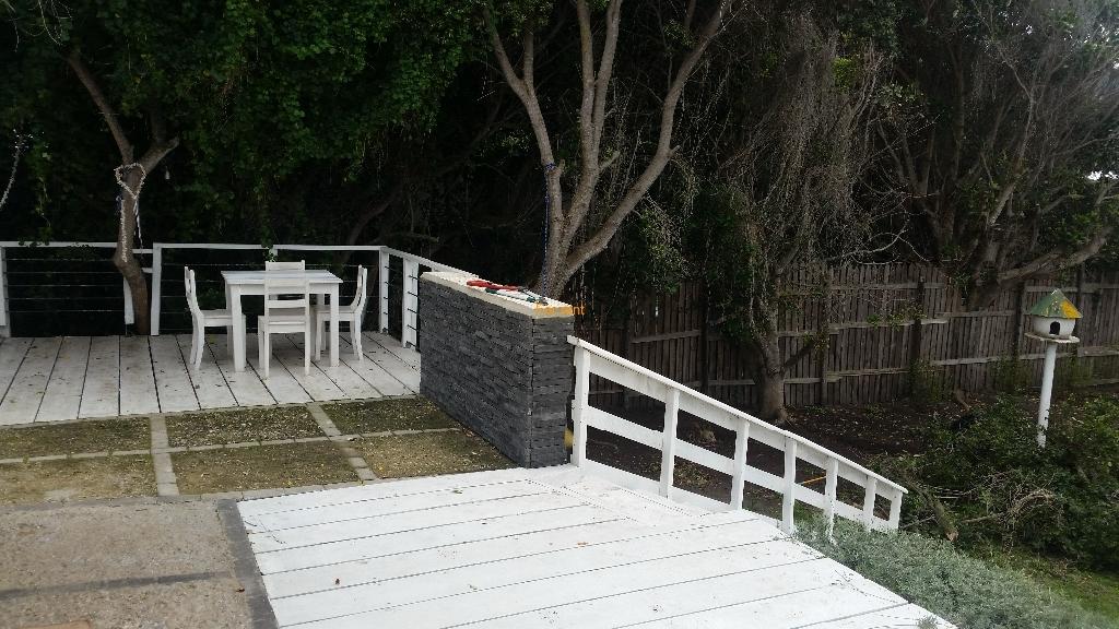 Outside deck area